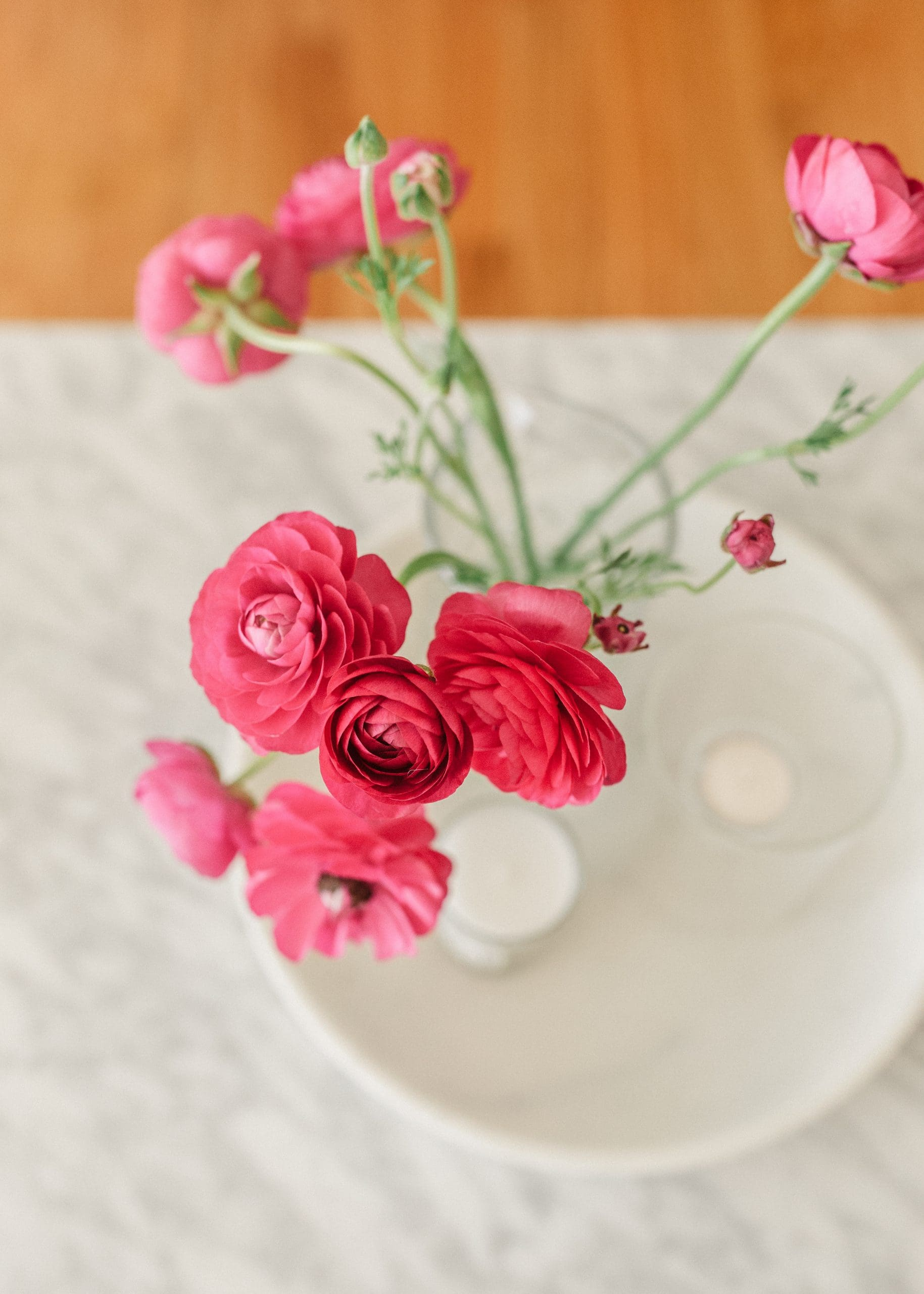 The Heirloom Pantry Valentine's Day Gift Guide - ranunculus in a marble vase
